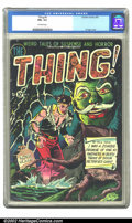 Golden Age (1938-1955):Horror, The Thing! #4 (Charlton, 1952) CGC FN+ 6.5 Off-white pages.Overstreet 2002 FN 6.0 value = $150....