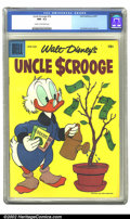 Silver Age (1956-1969):Humor, Uncle Scrooge #18 (Dell, 1957) CGC NM- 9.2 Cream to off-white pages. Carl Barks cover and art. Overstreet 2002 NM 9.4 value ...
