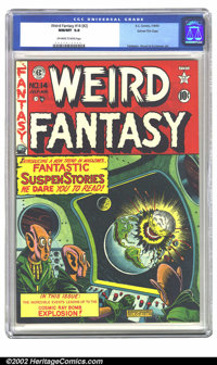 Weird Fantasy #14 (#2) Gaines File pedigree (EC, 1950) CGC NM/MT 9.8 Off-white to white pages. Famous Atom bomb cover! O...
