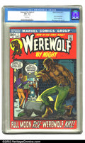 Bronze Age (1970-1979):Horror, Werewolf by Night #1 (Marvel, 1972) CGC NM- 9.2 White pages.Overstreet 2002 NM 9.4 value = $100. ...