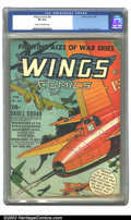 Golden Age (1938-1955):War, Wings Comics #30 (Fiction House, 1943) CGC VF 8.0 Cream tooff-white pages. Fawcette cover, Lubbers art. Overstreet 2002 VF...