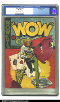 Golden Age (1938-1955):Superhero, Wow Comics (Canadian) #26 (Bell Features, 1944) CGC VF 8.0 Off-white to white pages. Not listed in Overstreet. ...
