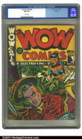 Golden Age (1938-1955):Adventure, Wow Comics (Canadian) #28 Rockford pedigree (Bell Features, 1944) CGC VF+ 8.5 White pages. Not listed in Overstreet. ...
