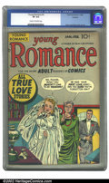 Golden Age (1938-1955):Romance, Young Romance Comics #3 Rockford pedigree (Prize, 1948) CGC VF 8.0 Cream to off-white pages. Overstreet 2002 VF 8.0 value = ...