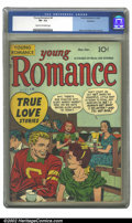 Golden Age (1938-1955):Romance, Young Romance Comics #4 (Prize, 1948) CGC VF- 7.5 Cream to off-white pages. Overstreet 2002 VF 8.0 value = $145....