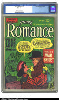 Golden Age (1938-1955):Romance, Young Romance Comics #7 Rockford pedigree (Prize, 1948) CGC VF+ 8.5Cream to off-white pages. Overstreet 2002 VF 8.0 value =...