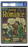 Golden Age (1938-1955):Romance, Young Romance Comics #10 Rockford pedigree (Prize, 1949) CGC VF/NM9.0 Off-white pages. Overstreet 2002 NM 9.4 value = $220....