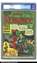 Golden Age (1938-1955):Romance, Young Romance Comics #12 Rockford pedigree (Prize, 1949) CGC FN/VF7.0 Cream to off-white pages. Overstreet 2002 FN 6.0 valu...