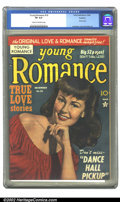 Golden Age (1938-1955):Romance, Young Romance Comics #16 Rockford pedigree (Prize, 1949) CGC VF 8.0Cream to off-white pages. Overstreet 2002 VF 8.0 value =...