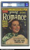 Golden Age (1938-1955):Romance, Young Romance Comics #17 Rockford pedigree (Prize, 1950) CGC VF/NM9.0 Cream to off-white pages. Overstreet 2002 NM 9.4 valu...