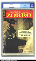 Silver Age (1956-1969):Adventure, Zorro #1 (Gold Key, 1966) CGC NM 9.4 Off-white to white pages. Overstreet 2002 NM 9.4 value = $95....