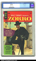 Silver Age (1956-1969):Adventure, Zorro #7 (Gold Key, 1967) CGC NM 9.4 Off-white to white pages. Highest graded by CGC. Overstreet 2002 NM 9.4 value = $50....