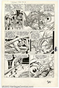 Original Comic Art:Panel Pages, Jack Kirby and Dick Ayers - Original Art from Fantastic Four #14,Page 17 (Marvel, 1962). The FF springs into action and Nam...