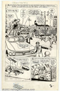 Original Comic Art:Splash Pages, Jack Kirby and Dick Ayers - Original Art for The Fantastic Four#14, page 2 (Marvel, 1963). A nice half-splash depicting the...