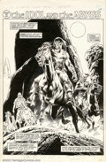 Original Comic Art:Splash Pages, Gene Colan and Pablo Marcos - Original Art from Savage Sword ofConan #33 Title Splash Page (Marvel, 1978 ). Outstanding pag...