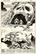 Original Comic Art:Splash Pages, John Buscema and Danny Bulanadi - Original Art for King Conan #4Splash Page (Marvel, 1980). Spectacular page from this shor...
