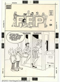 Original Comic Art:Covers, Unknown Artist - Original Cover Art to Pep (Archie, early '60s).Not sure of the artist or the exact issue, but still a fabu...
