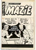 Original Comic Art:Covers, Unknown Artist - Original Cover Art to Mazie (Harvey, 1950s).Amusing pre-code humor book with clean Archie-esque artwork. 1...