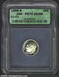 Proof Roosevelt Dimes: , 1998-S 10C Silver PR 70 Deep Cameo ICG. ...