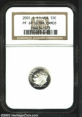 Proof Roosevelt Dimes: , 2001-S 10C Silver PR 69 Deep Cameo NGC. ...