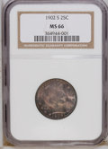 Barber Quarters: , 1902-S 25C MS66 NGC. NGC Census: (5/2). PCGS Population (6/0).Mintage: 1,524,612. Numismedia Wsl. Price for NGC/PCGS coin ...