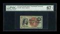 Fractional Currency:Fourth Issue, Fr. 1269 15c Fourth Issue PMG Superb Gem Unc 67 EPQ. Spectacular Fourth Issue 15C pieces are more often seen among the Fr. 1...