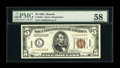 Small Size:World War II Emergency Notes, Fr. 2301 $5 1934 Mule Hawaii Federal Reserve Note. PMG Choice About Unc 58.. Bright paper and deep inks are seen on this exa...