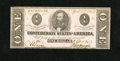 Confederate Notes:1863 Issues, T62 $1 1863. The cut is above average for this issue. Crisp Uncirculated....