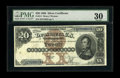 Large Size:Silver Certificates, Fr. 311 $20 1880 Silver Certificate PMG Very Fine 30. This high-end VF has retained its original embossing, which can be eas...