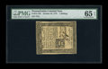 Colonial Notes:Pennsylvania, Pennsylvania October 25, 1775 1s PMG Gem Uncirculated 65 EPQ. Anenormously margined example of this available issue that ha...