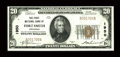 National Bank Notes:Arkansas, Fort Smith, AR - $20 1929 Ty. 1 The First NB Ch. # 1950. There is the barest trace of a center bend, but to label this c...