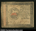 Colonial Notes:Continental Congress Issues, Continental Currency January 14, 1779 $35 Extremely Fine. ...