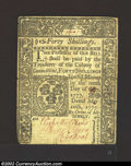 Colonial Notes:Connecticut, May 10, 1775, 40s, Connecticut, CT-181, VF. This is a bright ...