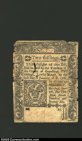 Colonial Notes:Connecticut, June 7, 1776, 2s, Connecticut, CT-196, VF. A well embossed ...