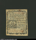 Colonial Notes:Connecticut, October 11, 1777, 3d, Connecticut, CT-215, Choice CU. A very ...