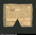 Colonial Notes:Massachusetts, May 5, 1780, $4, Massachusetts, MA-281, XF, COC, with an edge ...