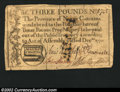 Colonial Notes:North Carolina, December, 1771, 3L, North Carolina, NC-142, VF. A well ...
