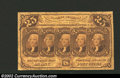 Fractional Currency:First Issue, First Issue 25c, Fr-1281, VF. Straight edge with monogram ...