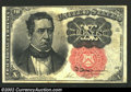 Fractional Currency:Fifth Issue, Fifth Issue 10c, Fr-1265, AU. Long key variety. There is a ...