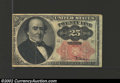 Fractional Currency:Fifth Issue, Fifth Issue 25c, Fr-1308, VF-XF. This long key Walker note is ...