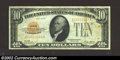 Small Size:Gold Certificates, 1928 $10 Gold Certificate, Fr-2400, Fine-VF. This is a bright ...