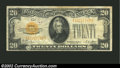 Small Size:Gold Certificates, 1928 $20 Gold Certificate, Fr-2402, Fine. A problem-free ...