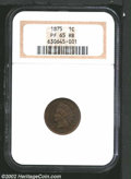 Proof Indian Cents: , 1875 1C PR65 Red and Brown NGC. A well struck Gem with ...