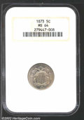 Miscellaneous: , 1873 5C Closed 3 MS64 NGC. Brilliant and well defined ...
