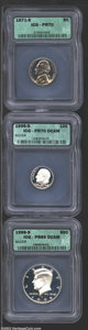 1971-S 5C Nickel PR70 ICG, the otherwise golden tinged surfaces reveal pretty lilac and blue highlights around the margi...