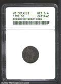 Early Half Dimes: , 1795 H10C--Corroded, Scratched--ANACS. VG Details, Net Good ...