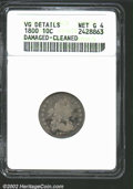 Early Dimes: , 1800 10C--Damaged, Cleaned--ANACS. VG Details, Net Good 4....