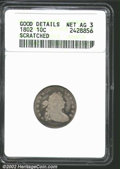 Early Dimes: , 1802 10C--Scratched--ANACS. Good Details, Net AG3. JR-3, ...