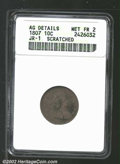 Early Dimes: , 1807 10C--Scratched--ANACS. AG Details, Net Fair 2. JR-1, ...