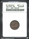 Bust Dimes: , 1811/09 10C--Obverse Tooled--ANACS. VF Details, Net Fine 12....